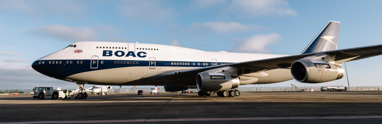 Retro 747 is latest 'celebrity' airliner to visit Heathrow