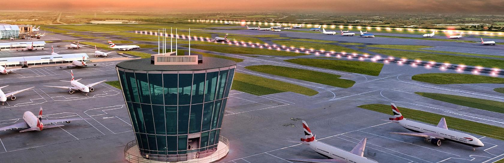 Heathrow  Airport Control Tower